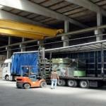 Ladungssicherung beim Beladen eines LKWs