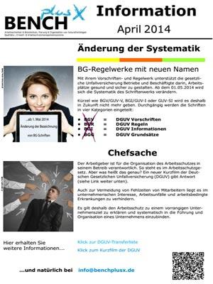 Newsletter 04.2014- Änderung Namen BG-Vorschriften